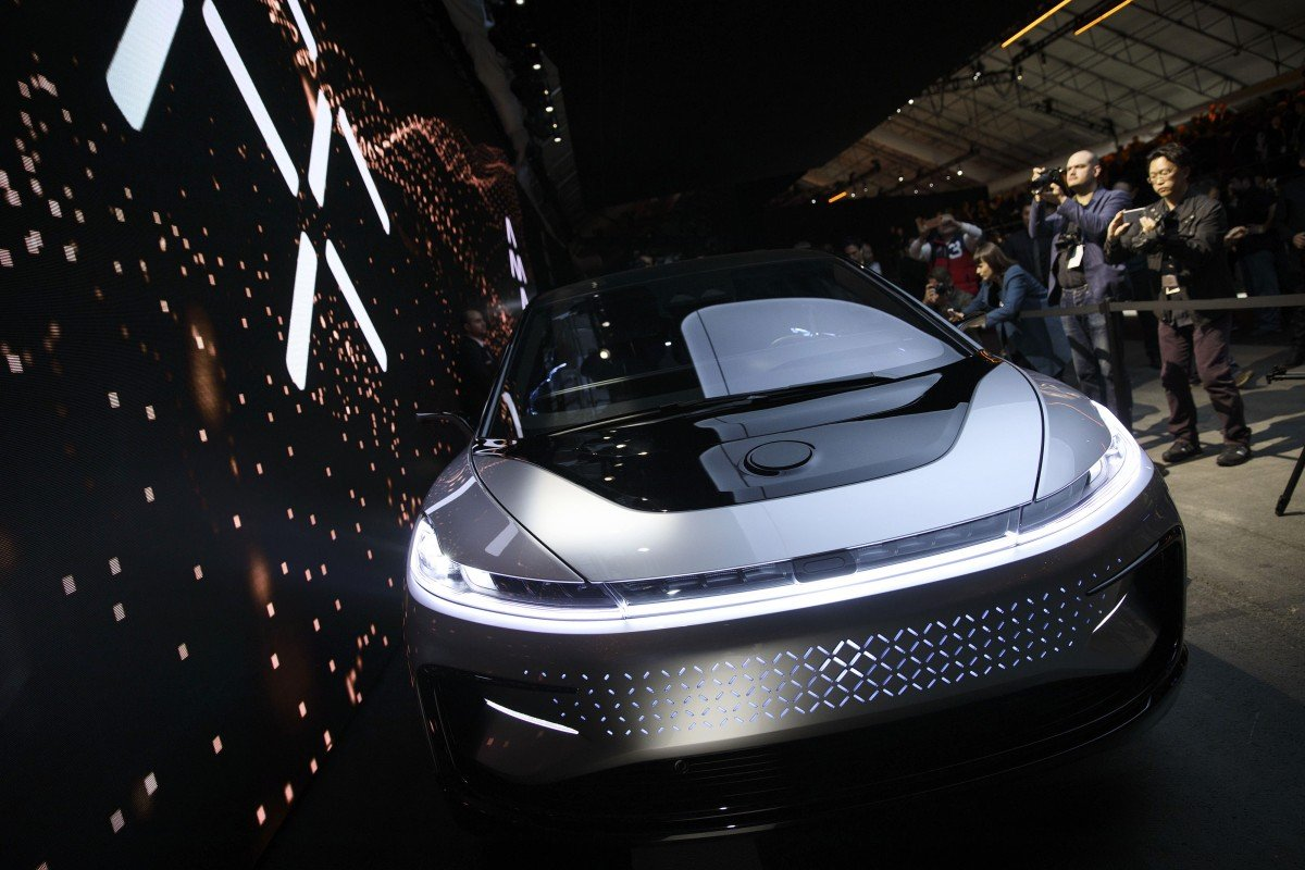 Faraday Future S Ff91 Electric Car Is Unveiled At The Consumer Electronics Show In Las Vegas