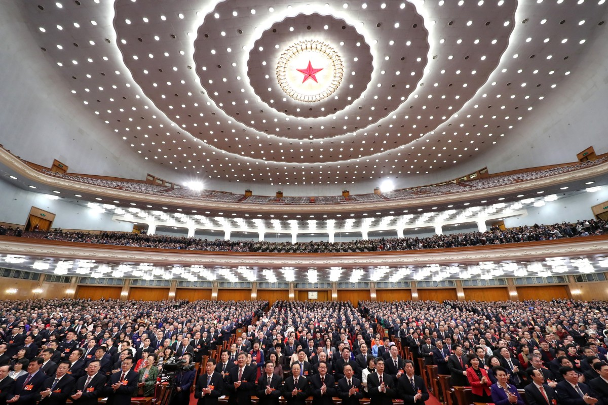 China's new foreign investment law was approved during the National People's Congress. Photo: Xinhua
