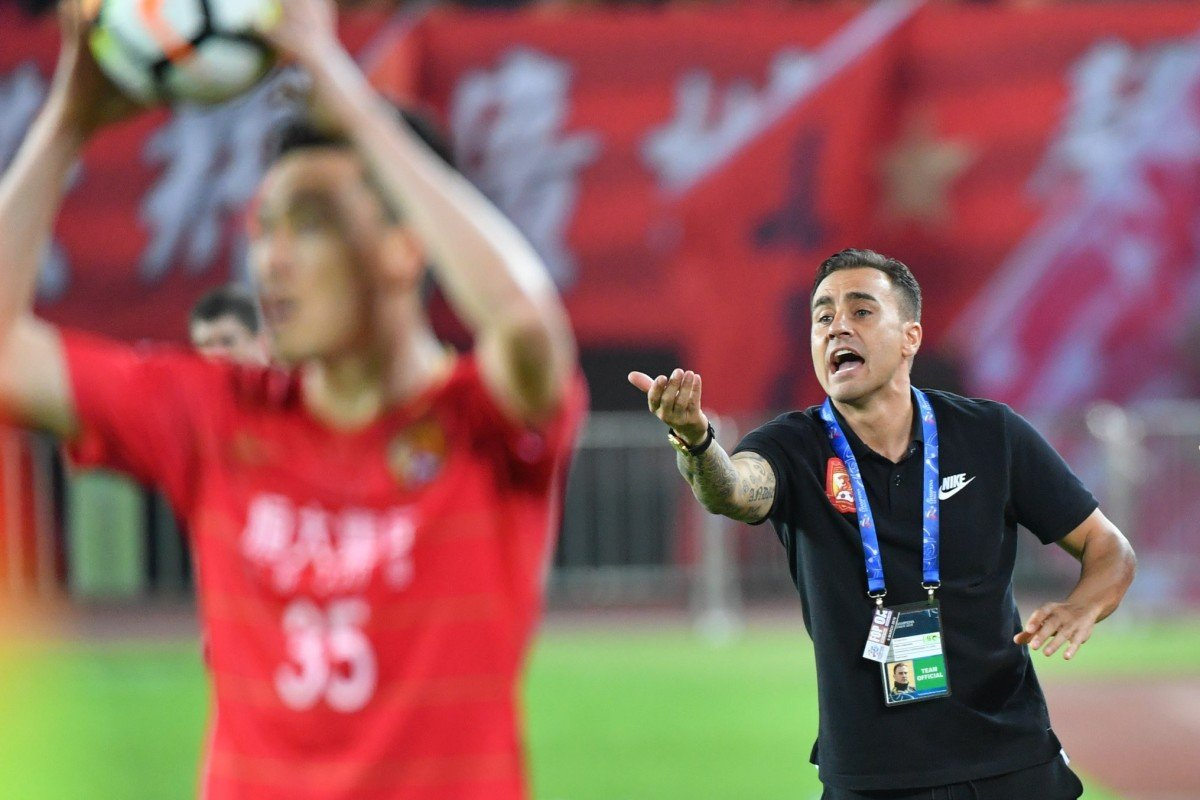 f3b84e106f1 Fabio Cannavaro is Guangzhou Evergrande s head coach in the Chinese Super  League. Photo  Xinhua