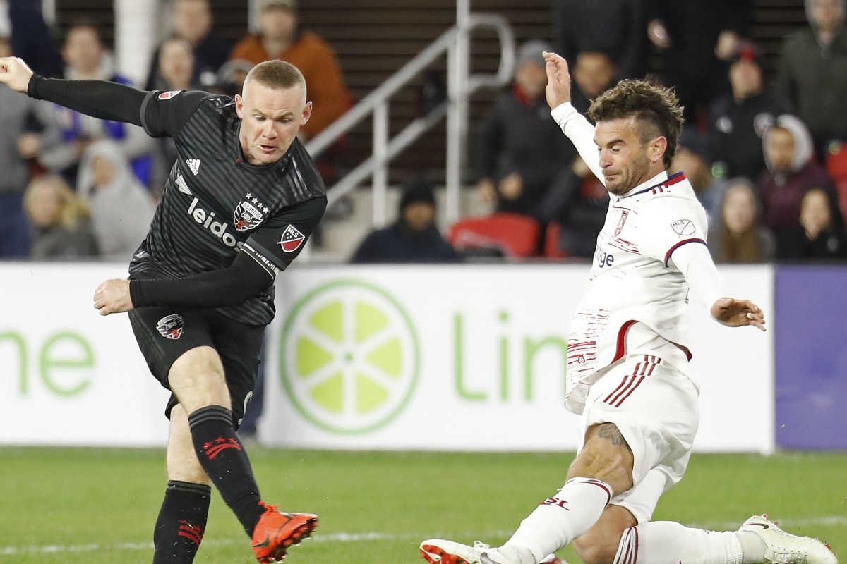 Wayne Rooney's hat-trick leads DC United past Real Salt Lake 5-0 and to the top of the Eastern Conference