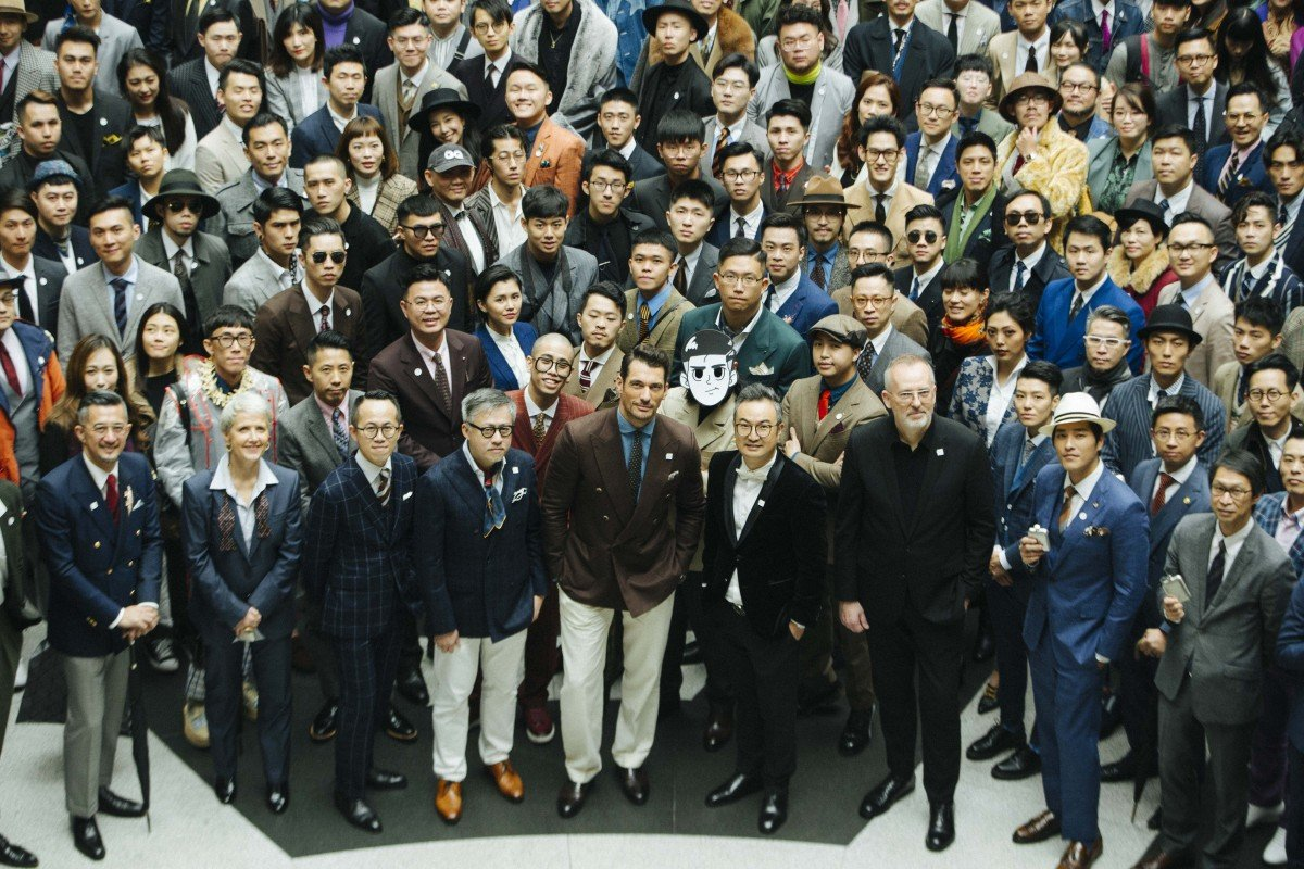 596985dfca8d Some of the more than 700 participants that took part in Suit Walk in  Taipei