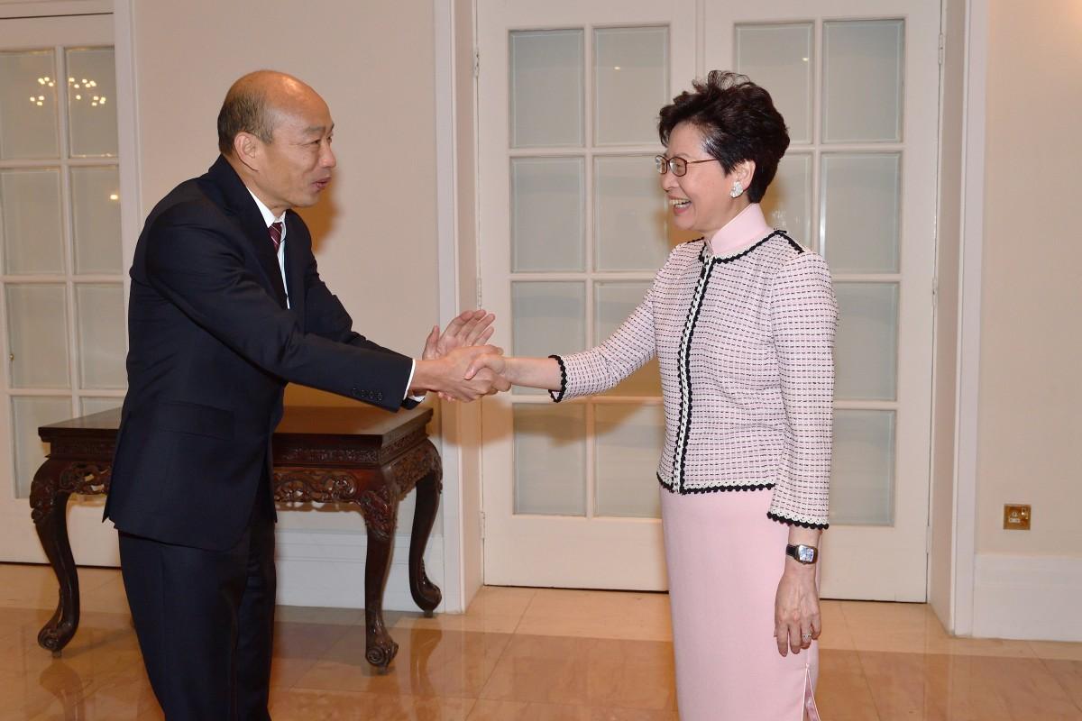 Beijing-friendly Taiwanese mayor Han Kuo-yu arrives in Hong Kong for