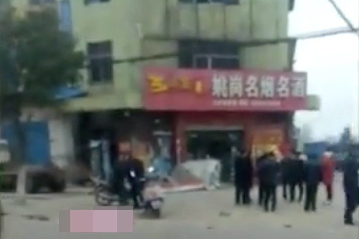 A man drove a car into a crowd on Friday morning, killing six and injuring seven in Hubei province. Photo: Thepaper.cn