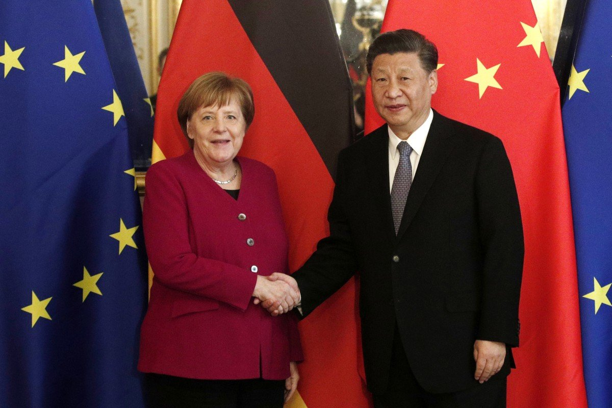 Xi Jinping and Angela Merkel and the Paris meeting. Photo: EPA-EFE