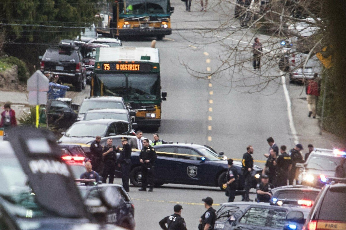 Two people dead in North Seattle after gunman opens fire on bus and