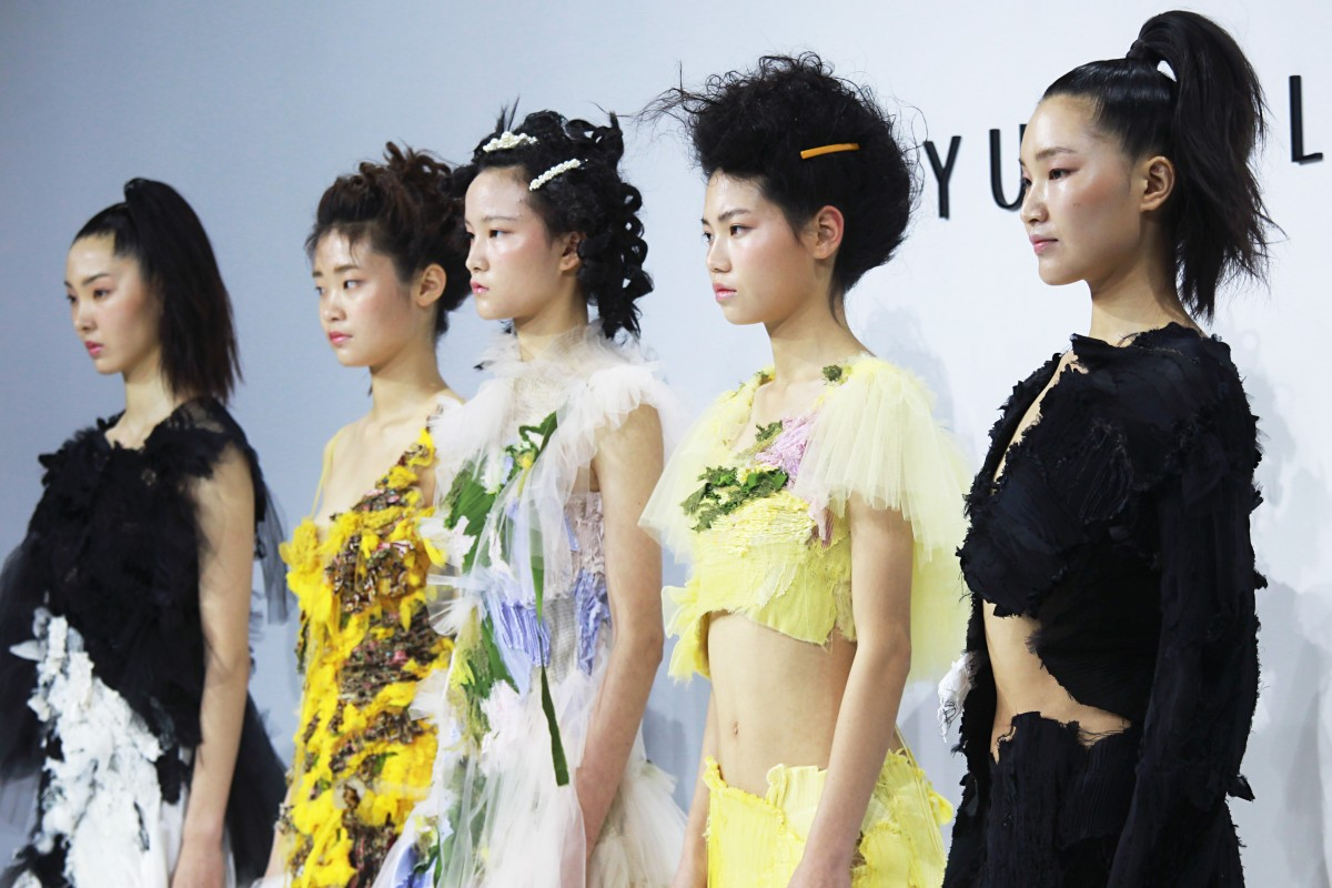 8f1cd0d5bf The Caroline Hu collection, winner of the inaugural BoF China Prize for  young Chinese fashion