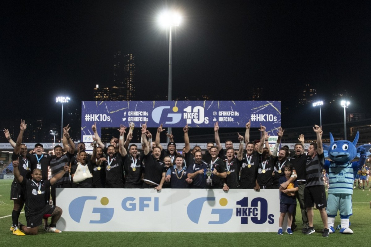 506a8da7fed Biarritz Gavekal celebrate winning the Cup competition at the GFI HKFC  Rugby Tens. Photos