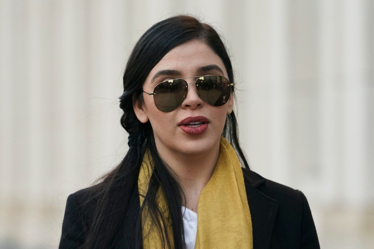 5d355f0d926e Emma Coronel leaving the court in Brooklyn, New York, after attending the  trial of