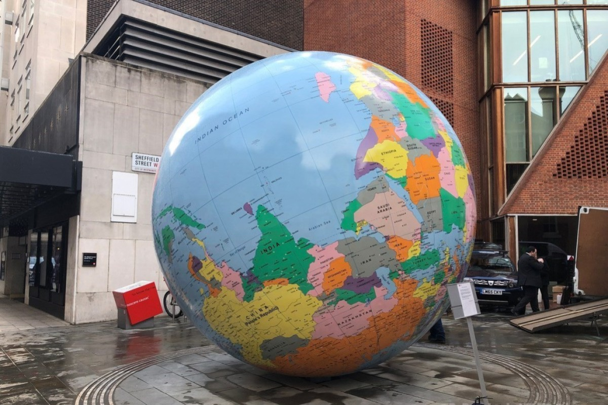 London university says it hasn't decided whether to change globe sculpture to make Taiwan part of China