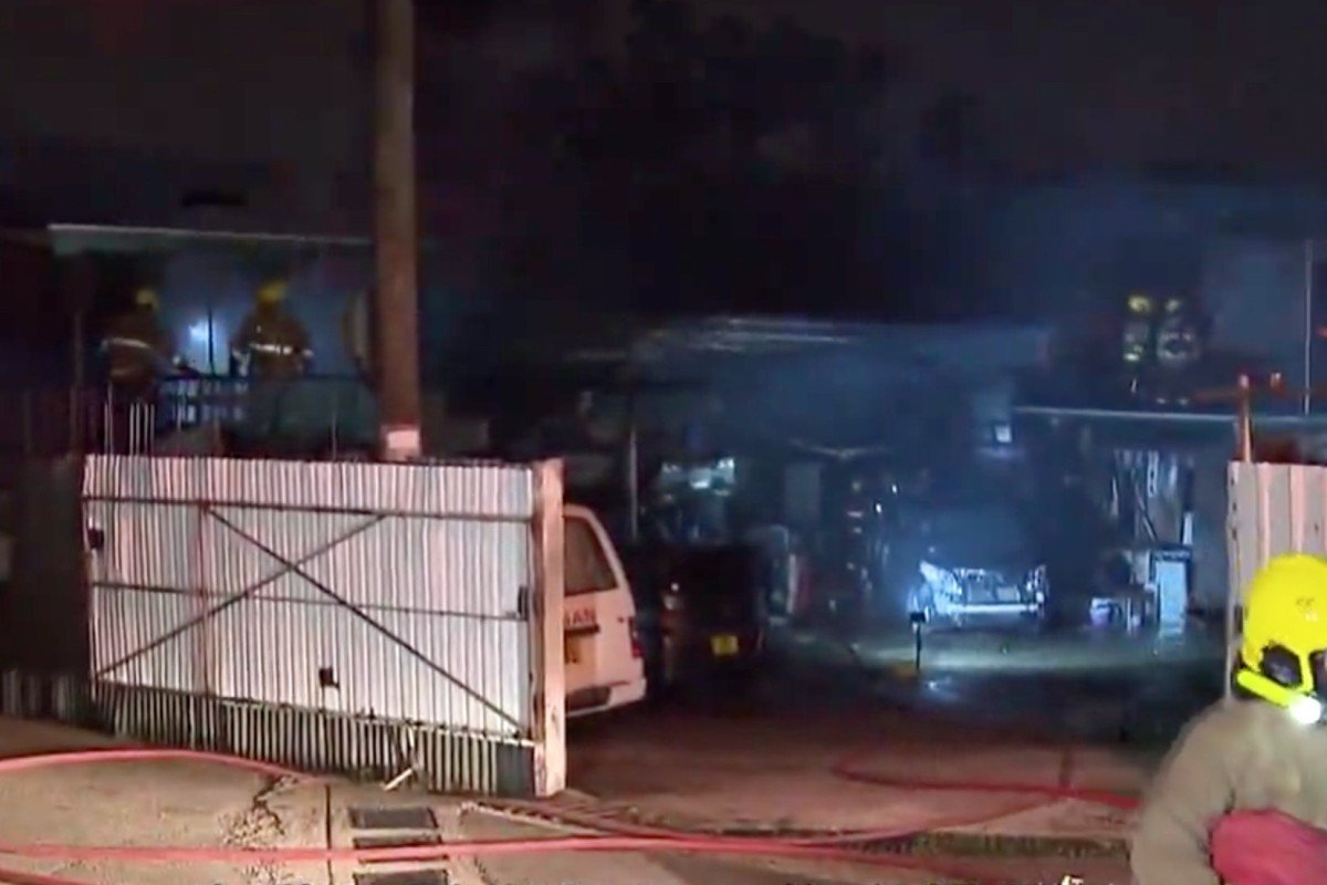 16 Vehicles Damaged In Garage Fire In Hong Kong Village South
