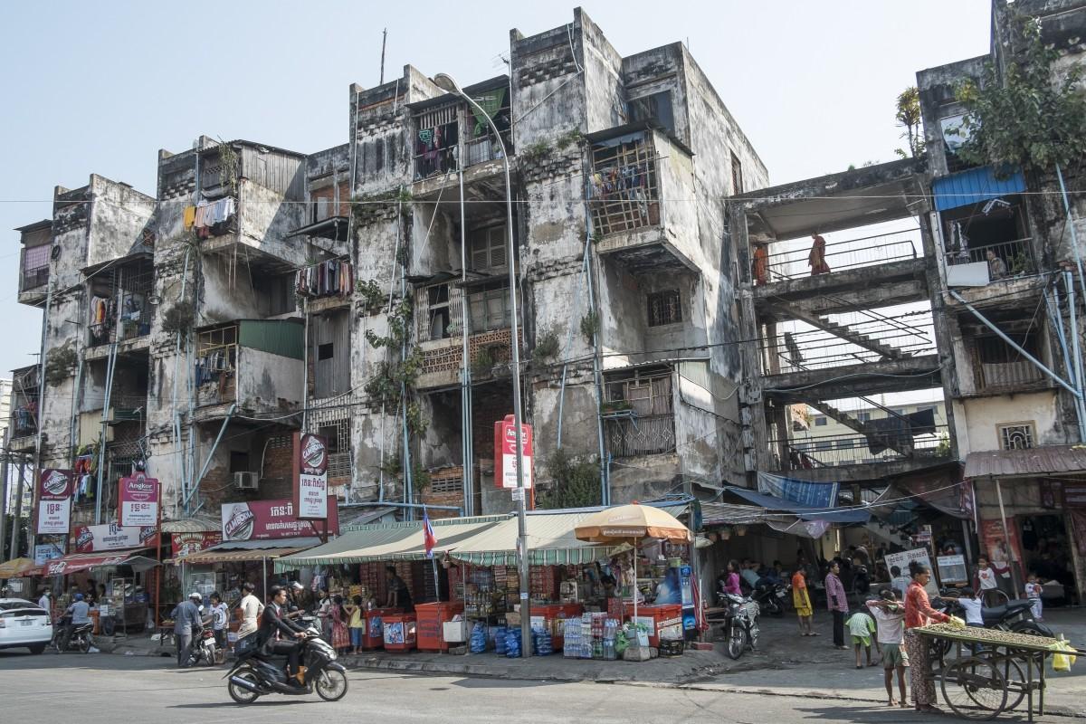 c954ed6c Phnom Penh's White Building, designed by Cambodian architect Vann Volyvann,  before its destruction.