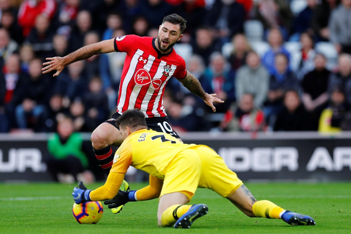 f89b3483c Southampton s Charlie Austin (10) in action with Manchester City s Ederson  in December 2018.