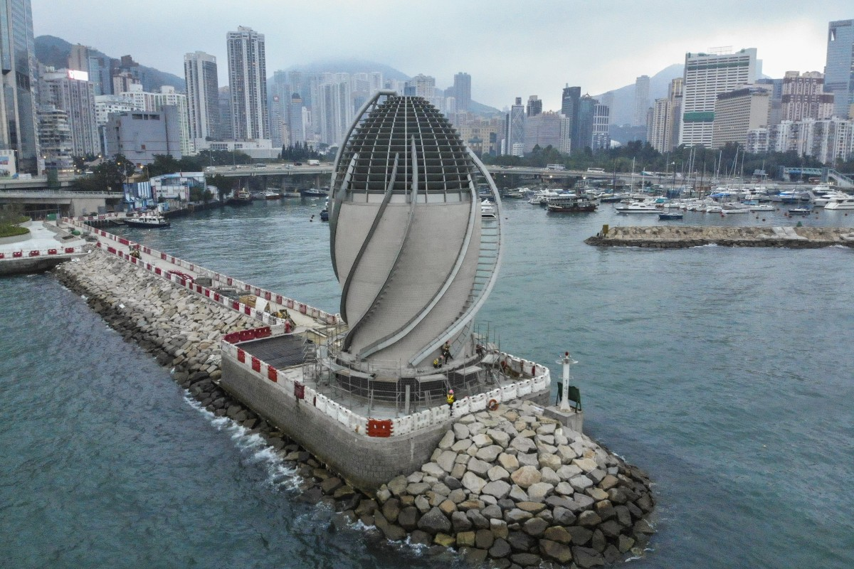 The air purifying facility in Causeway Bay is one of three at the bypass. Photo: Martin Chan