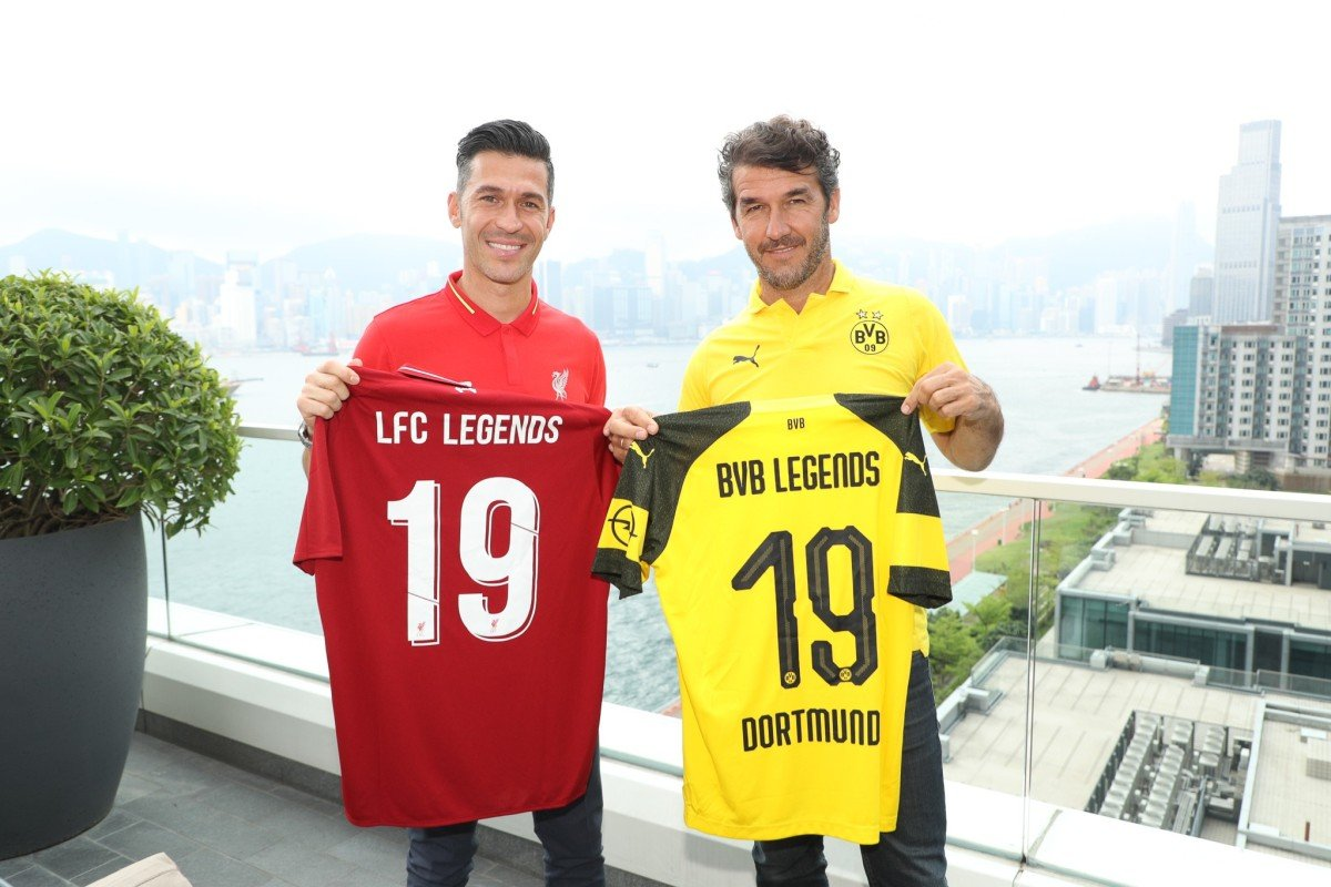 36429728a Luis Garcia and Karl-Heinz Riedle in Hong Kong to launch the countdown to  their