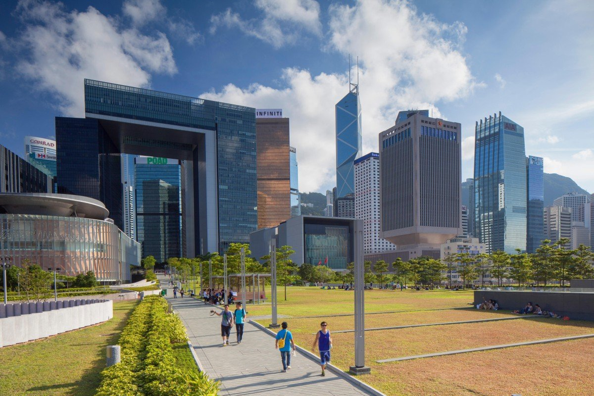 02a05bf1 Office rents in Hong Kong's Central district are the world's most  expensive. Photo: Alamy