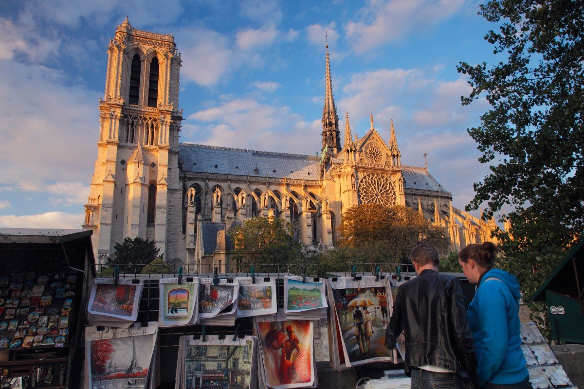 46c9cb82 A fire engulfed large parts of historic Notre Dame cathedral in Paris on  Monday. Photo