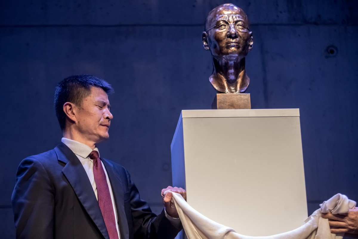 Brass bust of late Chinese dissident Liu Xiaobo unveiled at Prague art centre to mark 30th anniversary of the 1989 Tiananmen massacre