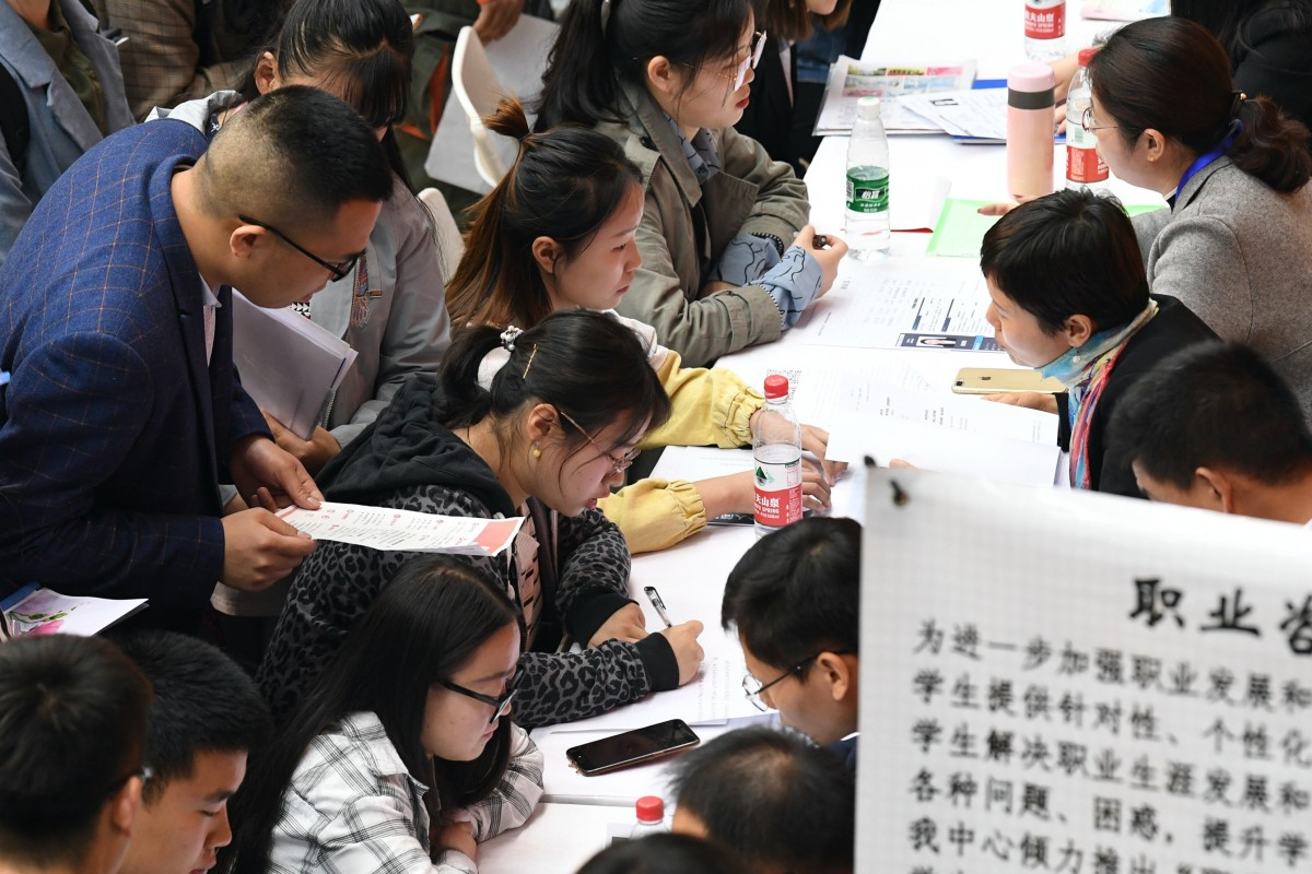 China's economic growth unable to boost employment as job market drops to six-year low, says think tank