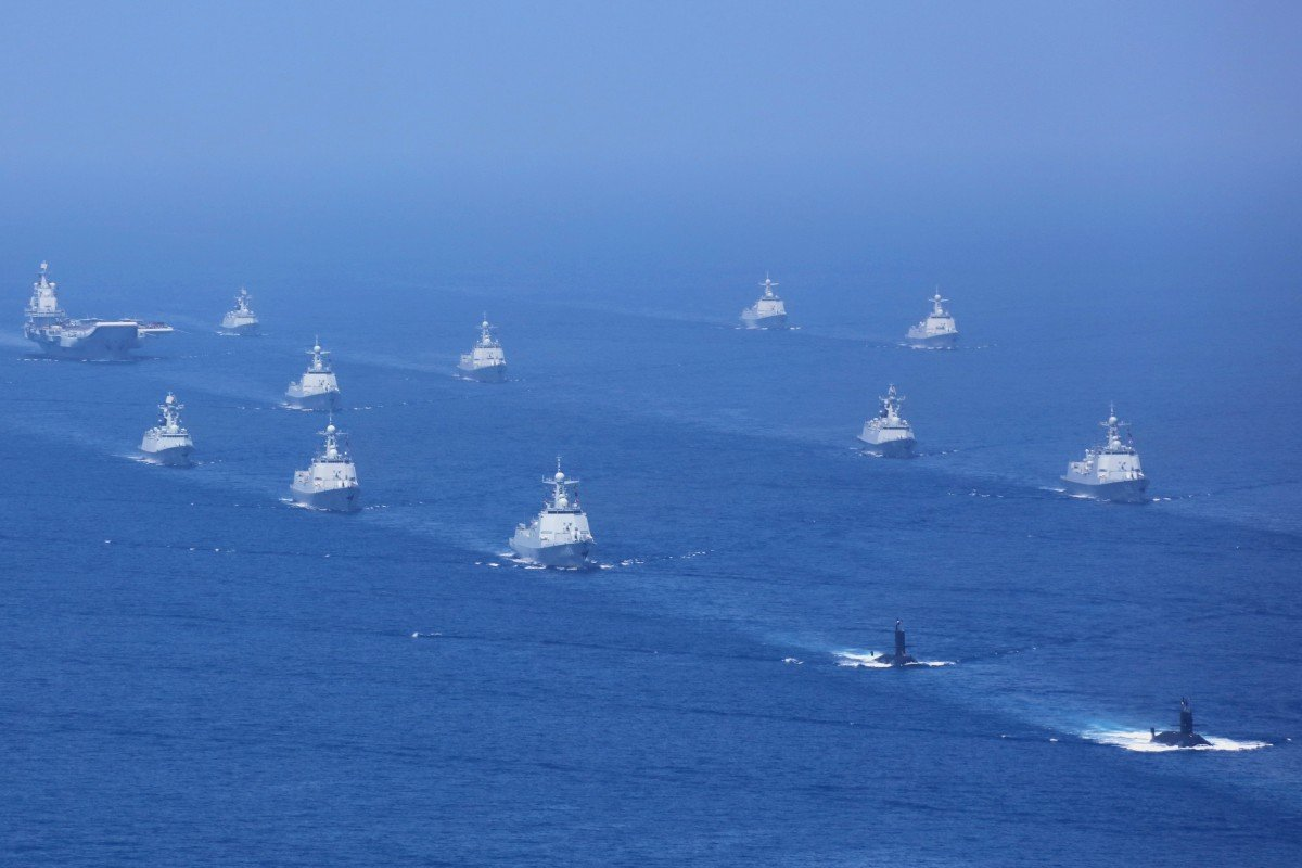 cd06dad8aea17c The PLA Navy held its largest ever fleet review in the South China Sea last  year