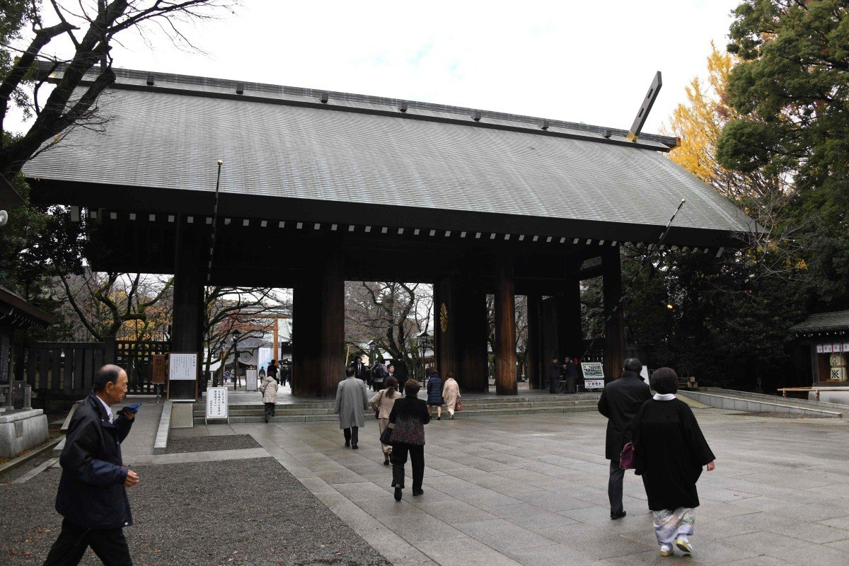 Japan PM Shinzo Abe stays away from Yasukuni war shrine, offers tree instead