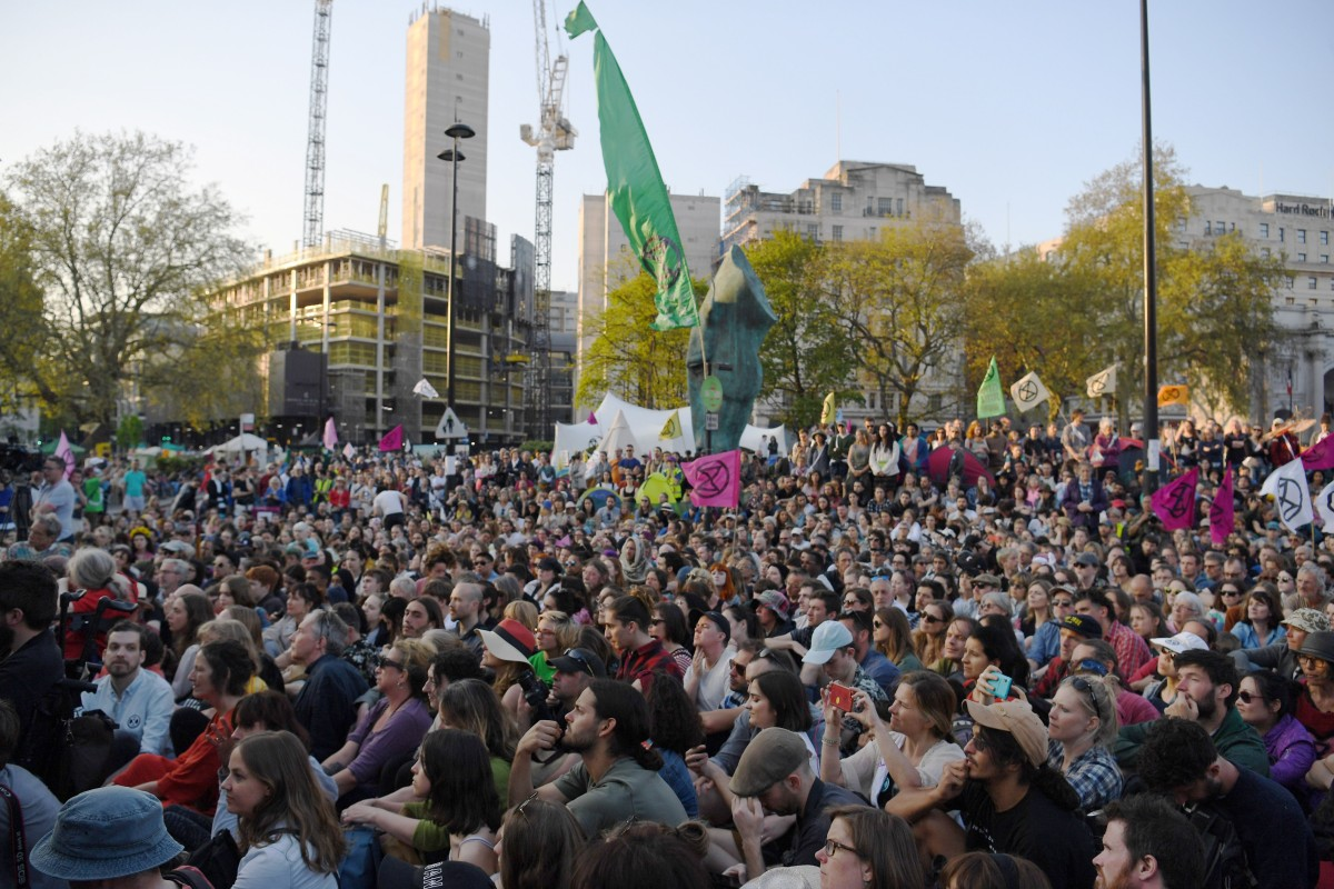 'Humanity is at a crossroads': London climate change protesters will call halt to action if British...