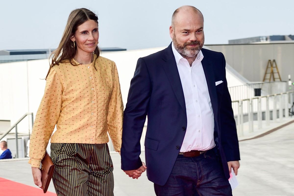 Anders Holch Povlsen and his wife, Anne, arrive at the celebration of the 50th birthday of Crown Prince Frederik of Denmark in Copenhagen in May 2018. Photo: AFP