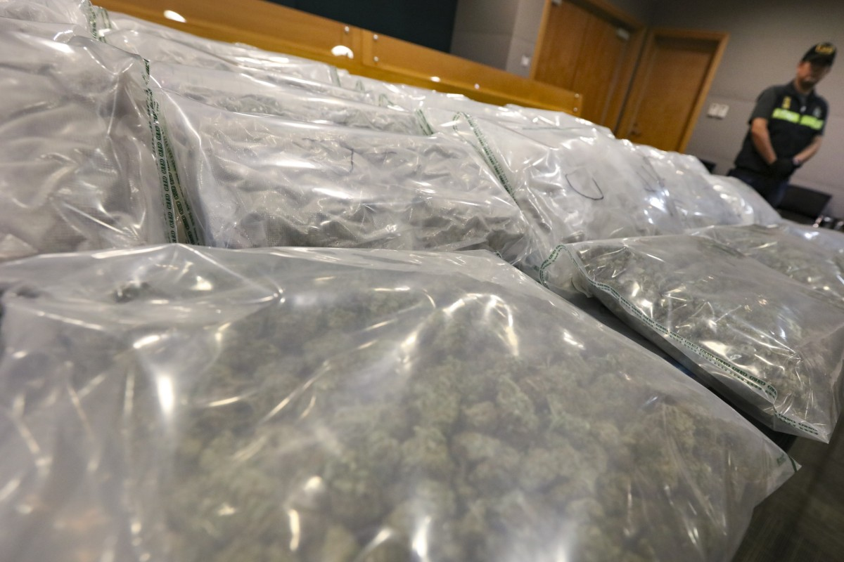 Hong Kong customs reports 500 per cent spike in marijuana seizures, most sent by airmail after Canada's...