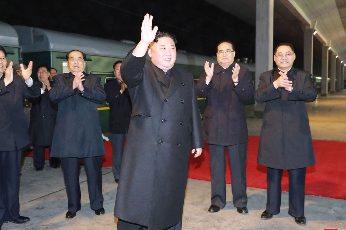 d2f9eded623 Kim Jong-un waving to well-wishers at an undisclosed location in North Korea