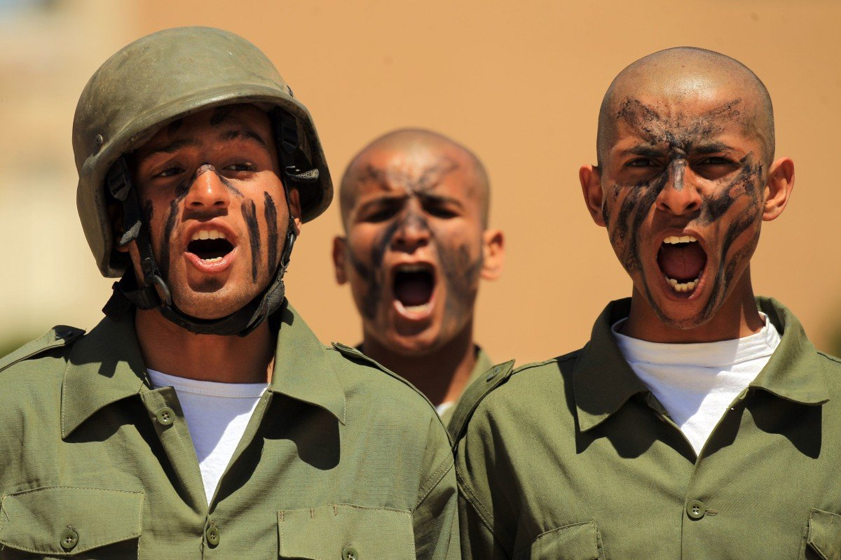 18554a02a25 Fighters from the self-proclaimed Libyan National Army loyal to Khalifa  Hifter attend their graduation