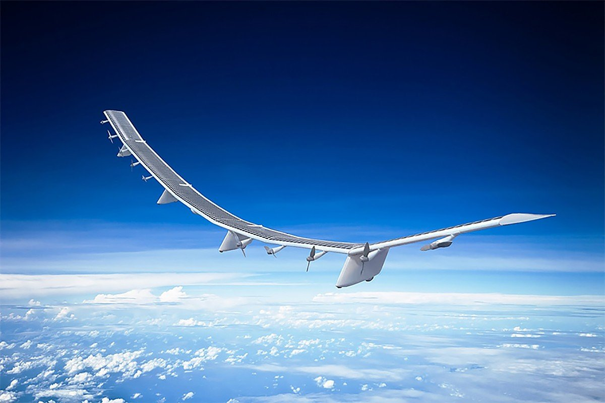 Japanese telecommunications giant SoftBank Corp has launched a new high-altitude platform station business through HAPSMobile, a joint venture with US firm AeroVironment. This business aims to deliver global internet connectivity through a fleet of unmanned aircraft – the Hawk30, shown here – that will fly in the Earth's stratosphere. Photo: Handout