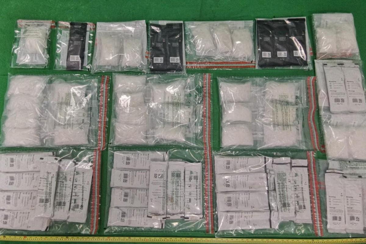 Hong Kong Customs seize 10 ½ kg of crystal meth, arresting mainland