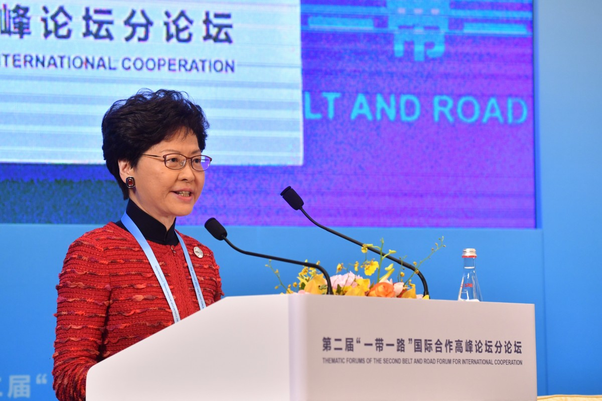 Hong Kong sells itself at Belt and Road Forum in Beijing as Chief Executive Carrie Lam touts benefits of...