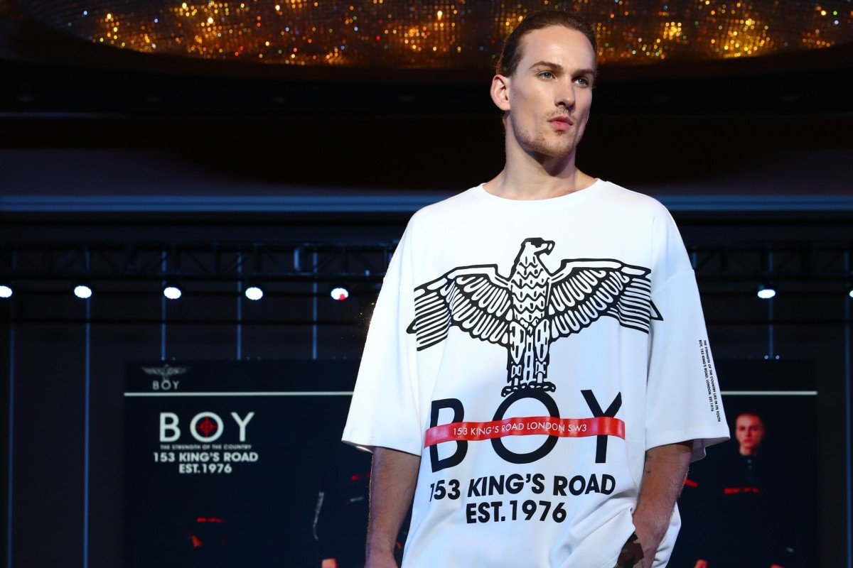 fb2c340e6b9 A look from the Boy London spring-summer 2019 show in Shanghai. The UK