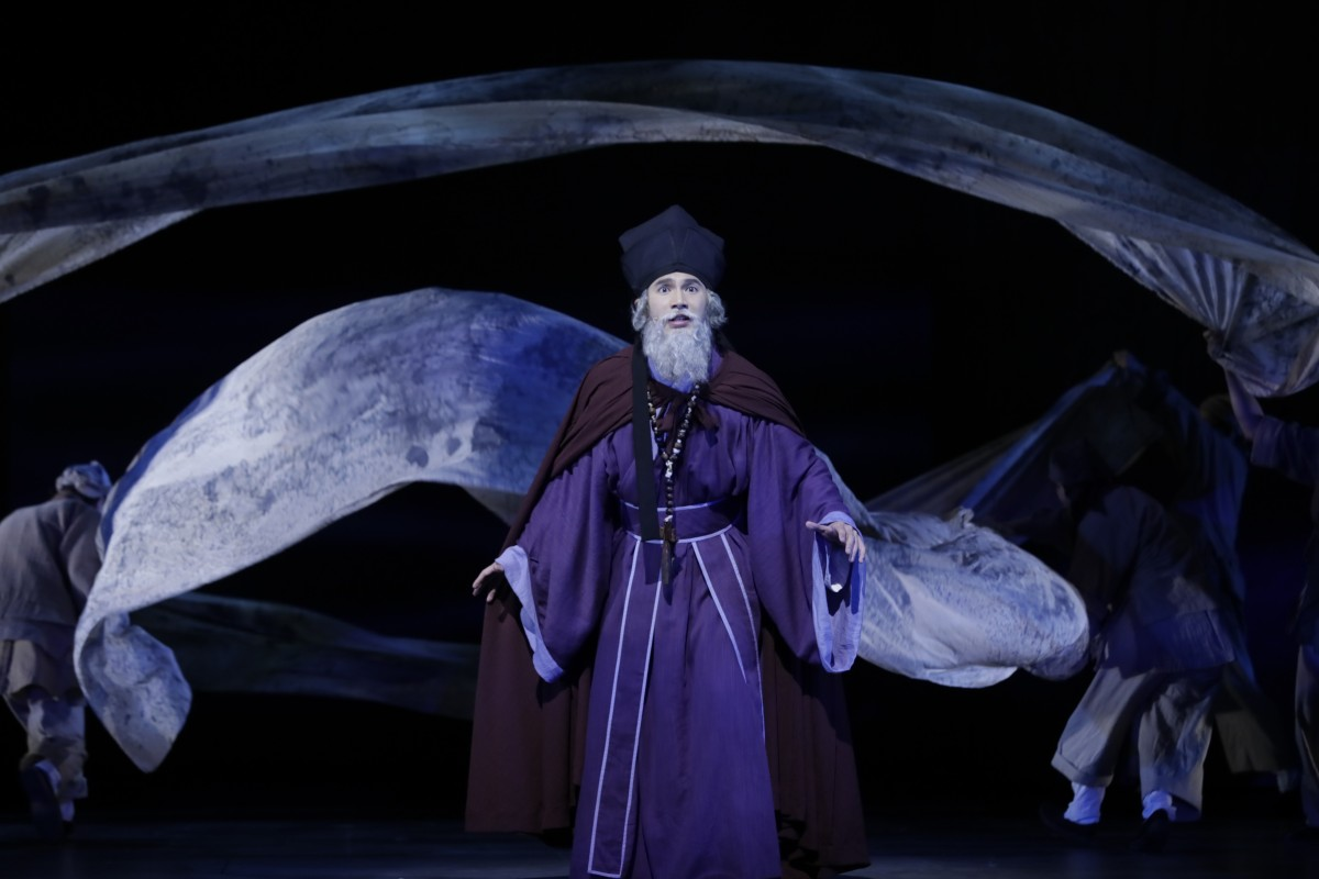 Jonathan Wong performs in Matteo Ricci The Musical, on April 19. Photo: Matteo Ricci The Musical / Cheung Chi-wai