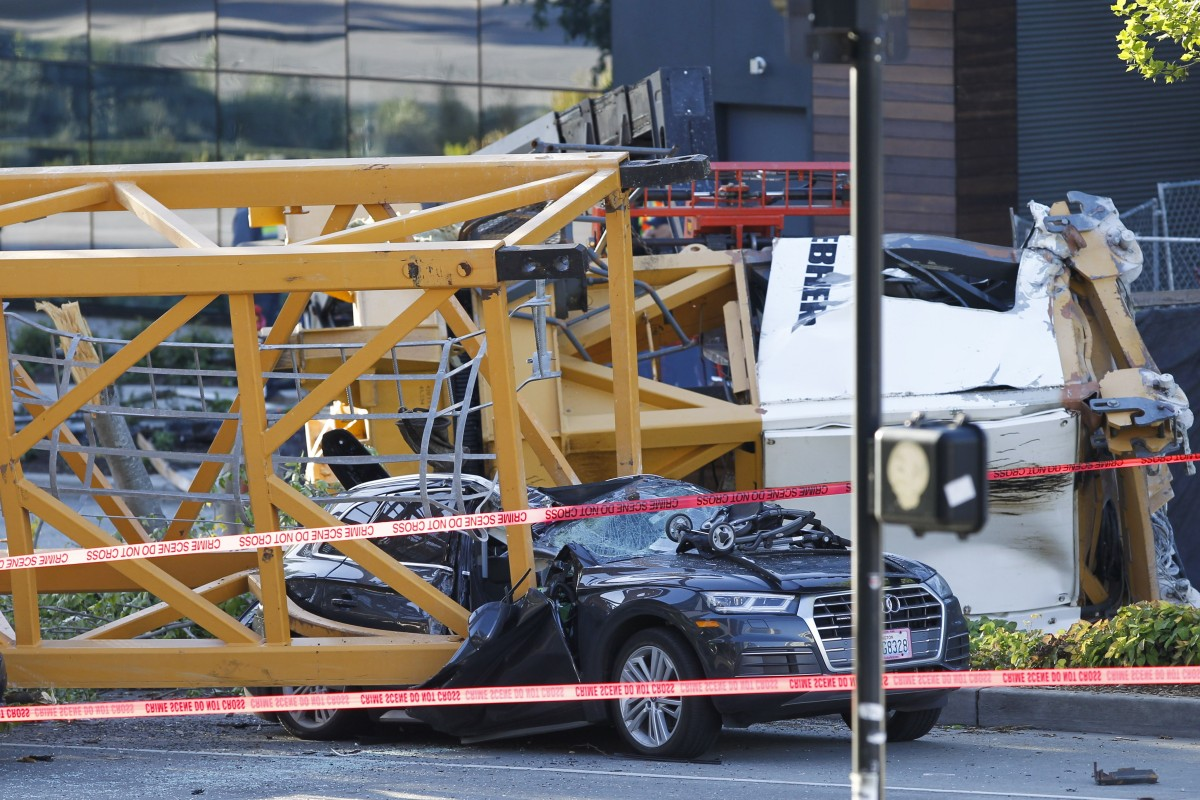 Four killed after crane on Google campus building collapses