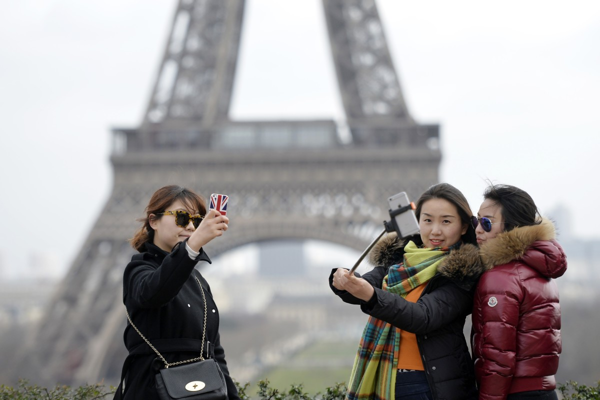 Chinese tourists have been warned to be on their guard when visiting France. Photo: AFP