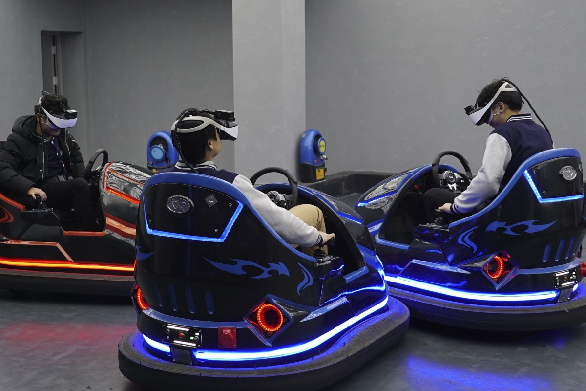 f71c5cfc1c42a Virtual reality bumper cars are just one of the rides on offer at the Star  VR