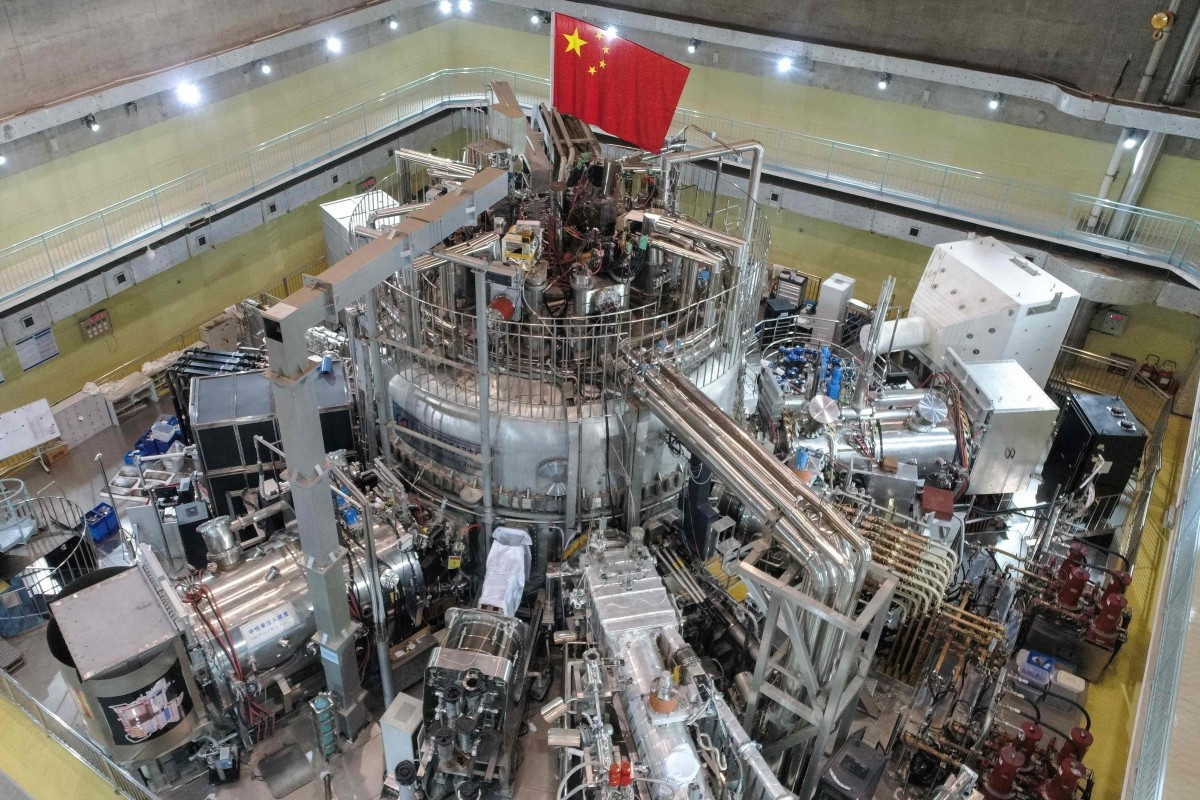 "The Experimental Advanced Superconducting Tokamak (EAST) device – or ""artificial sun"" – in Hefei, Anhui province. Photo: AFP/Chinese Academy of Sciences"