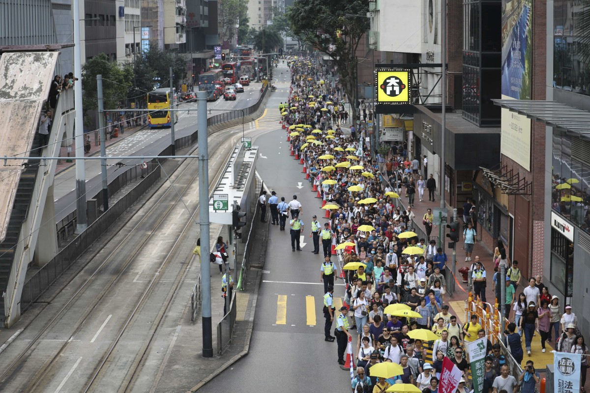 13c45c95186 Hong Kong government caught on the hop by Sunday's mass protest but ...