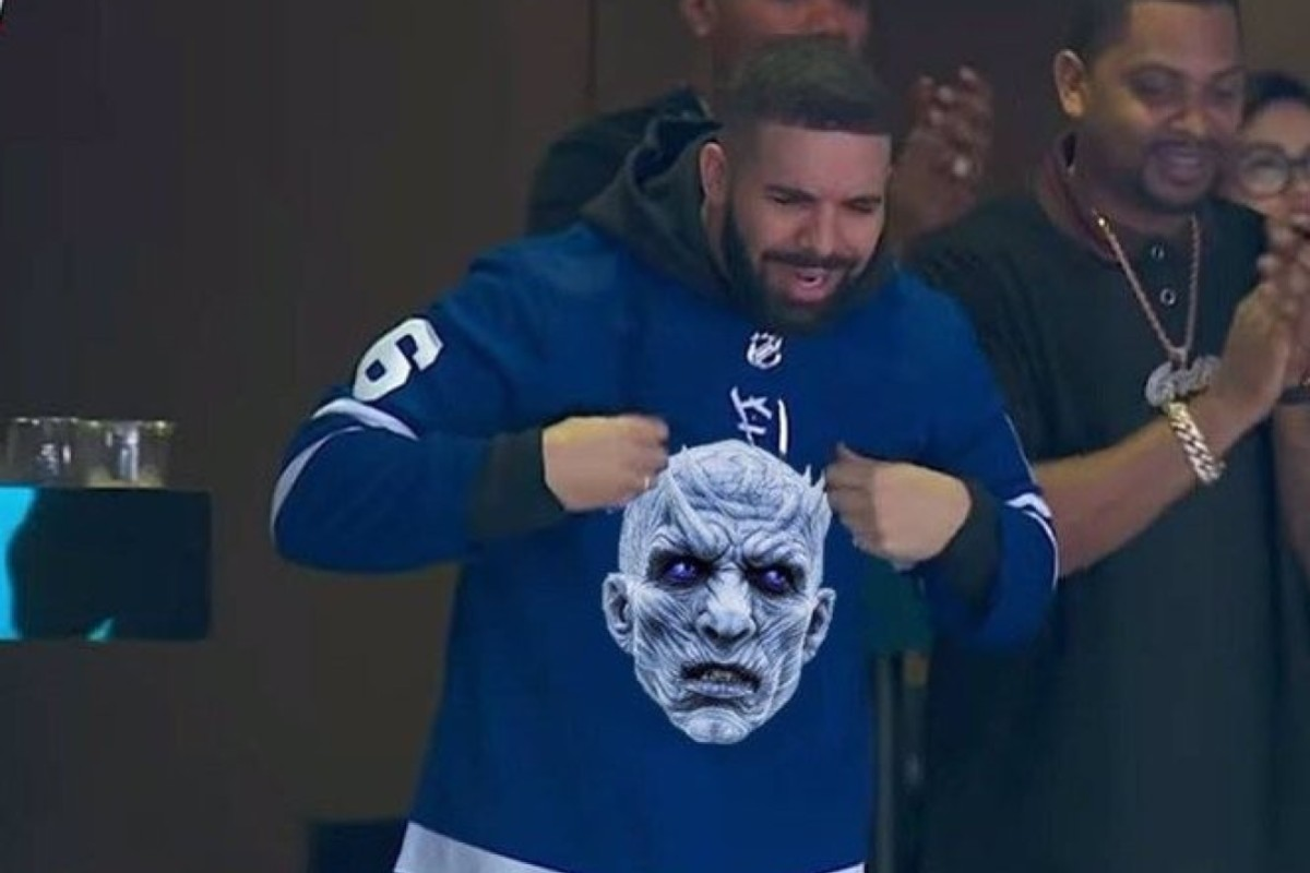 brand new eb2e5 8f5fa Toronto rapper Drake is said to have cursed the Night King in HBO show Game  of
