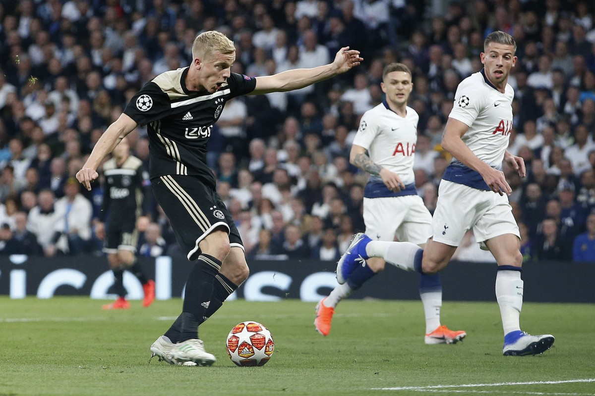 b2d211cb497b Ajax s Donny van der Beek scores the only goal against Tottenham Hotspur in  the Uefa Champions