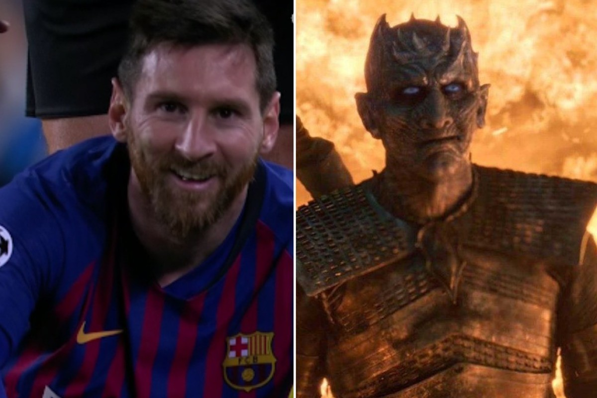 e68e921bfa80 Barcelona s Lionel Messi is compared to the Night King in a meme on social  media.