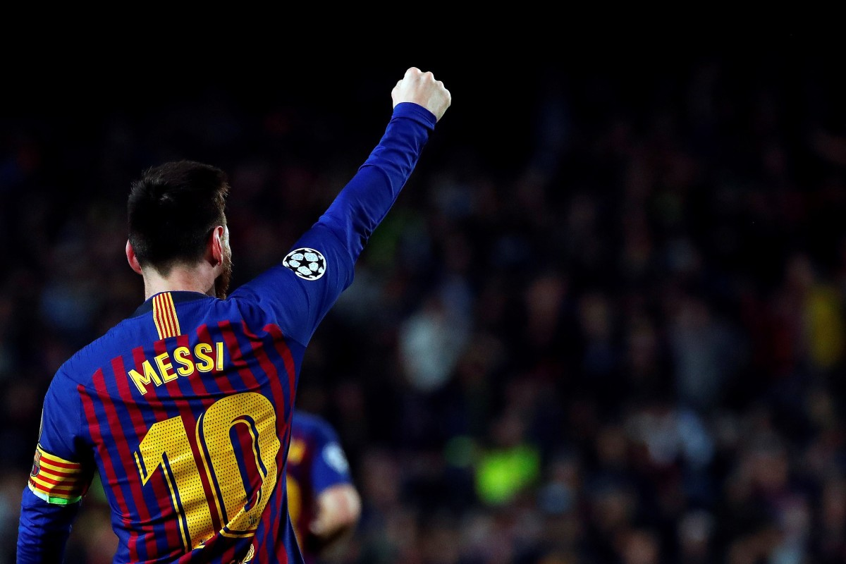 48047b21faeb Barcelona s Leo Messi salutes the Camp Nou crowd after scoring. Photo  EPA