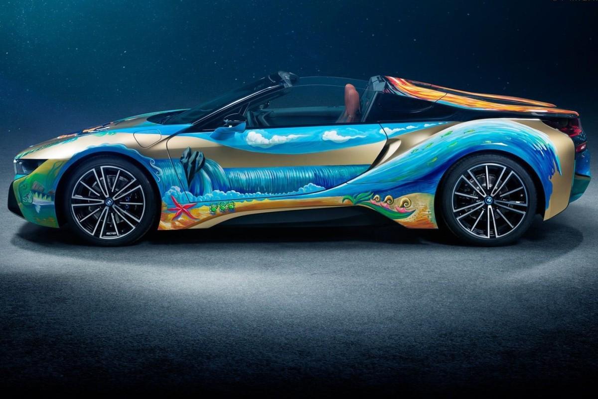 online store b1345 2b6ff On the 2019 BMW i8 Roadster 4 Elements, German artist Milan Kunc  illustrated BMW s desire