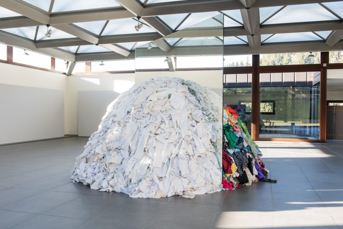 31182034ab The large-scale installation Metamorfosi is three metres high and uses rags  and used clothes
