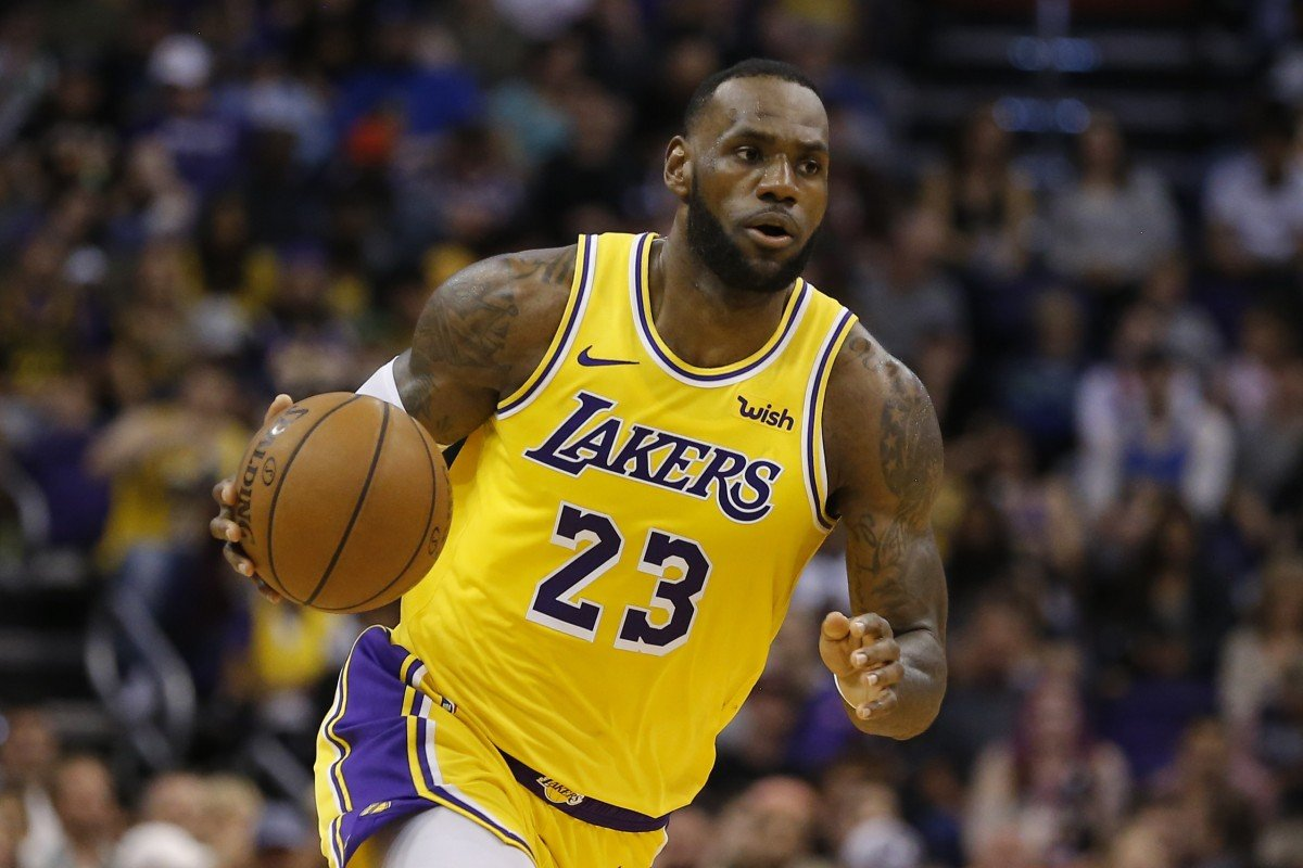 39c427d4ecc2 LeBron James has hit out at the timing of Magic Johnson s departure from  the LA Lakers