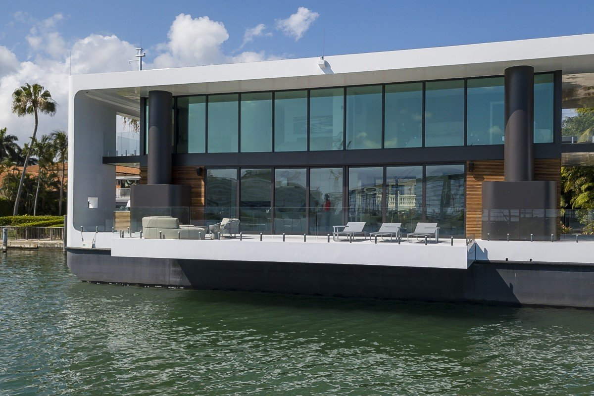 This houseboat of the future is a US$5 5 million floating mansion