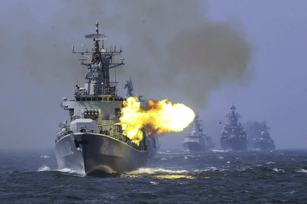 The PLA is staging live-fire drills at the northern end of the Taiwan Strait this week. Photo: AP