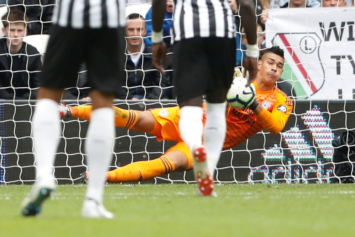 b2235d32a Cardiff City s Neil Etheridge saves a penalty from Newcastle United s  Kenedy. Photo  Reuters