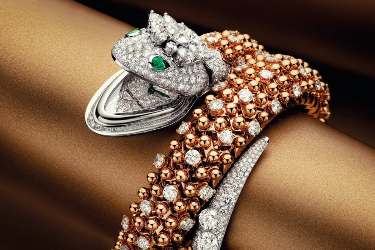 37f0faff7 Bulgari High Jewellery Serpenti watch, with an 18-ct rose gold bracelet, was